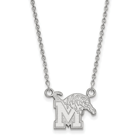 10kw LogoArt University of Memphis Small Pendant w/Necklace