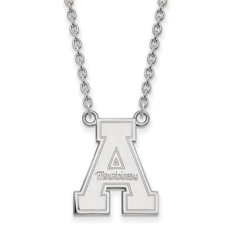 14kw LogoArt Appalachian State University Large Pendant w/Necklace