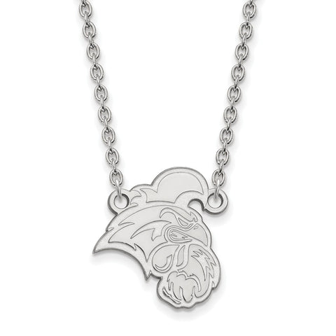 10k White Gold Logoart Coastal Carolina University Chanticleers Large Pendant W/Necklace