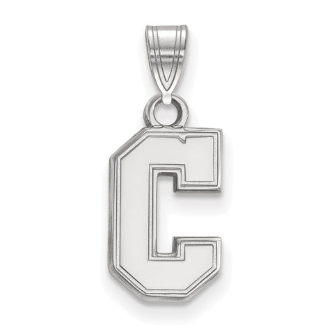 Sterling Silver LogoArt College of Charleston Small Pendant