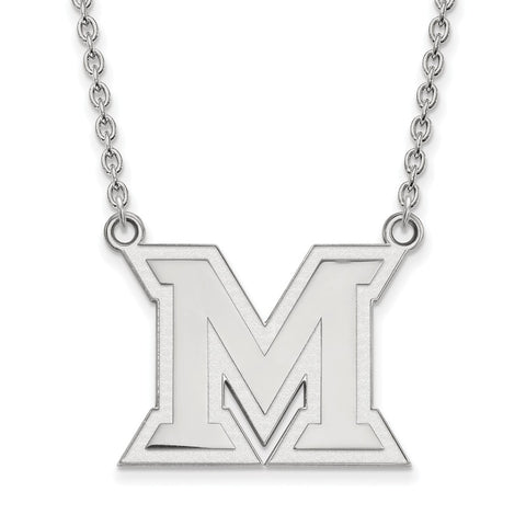14kw LogoArt Miami University Large Pendant w/Necklace