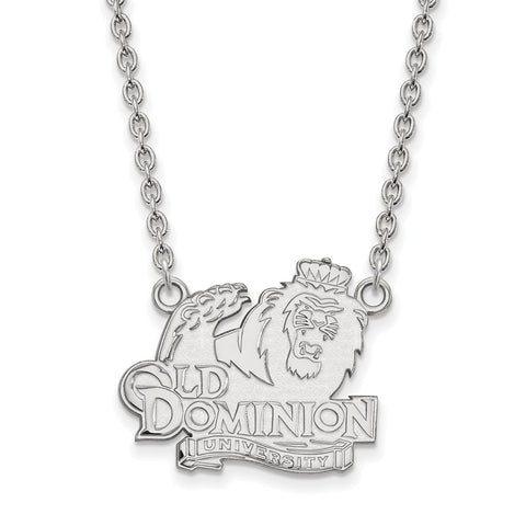 14kw LogoArt Old Dominion University Large Pendant w/Necklace