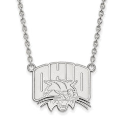 14kw LogoArt Ohio University Large Pendant w/Necklace