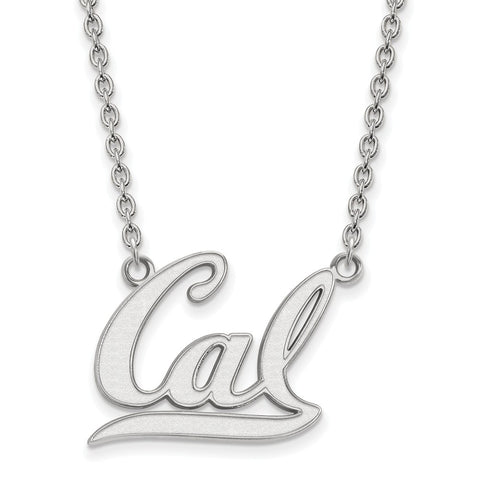 14kw LogoArt University of California Berkeley Large Pendant w/Necklace