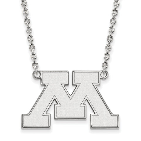 10kw LogoArt University of Minnesota Large Pendant w/Necklace