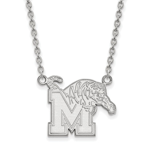 10kw LogoArt University of Memphis Large Pendant w/Necklace