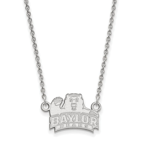 10kw LogoArt Baylor University Small Pendant w/Necklace