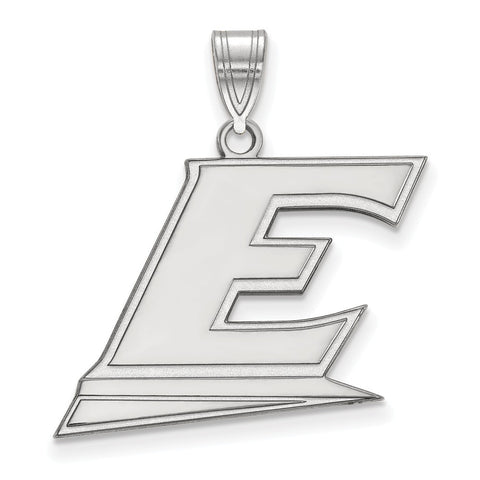Sterling Silver LogoArt Eastern Kentucky University Large Pendant