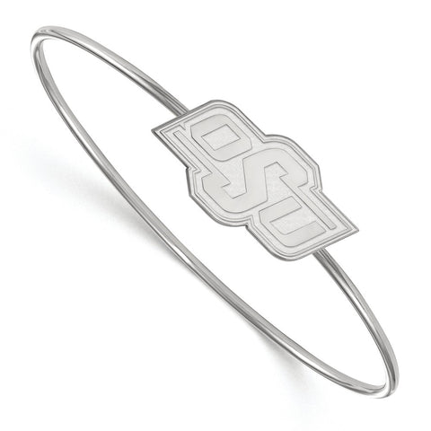 Sterling Silver LogoArt Oklahoma State University Bangle Slip on