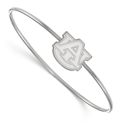 Sterling Silver LogoArt Auburn University Bangle Slip on