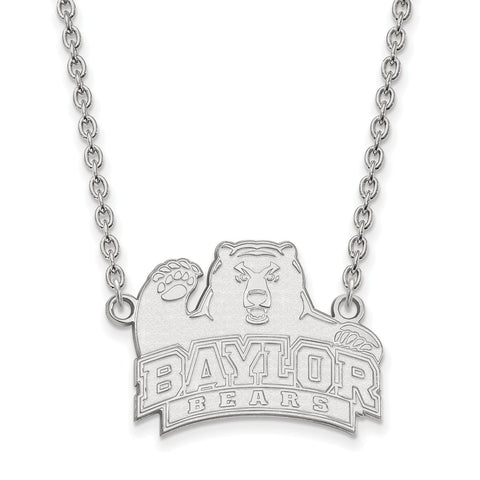 10kw LogoArt Baylor University Large Pendant w/Necklace