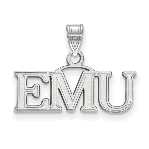 Sterling Silver LogoArt Eastern Michigan University Small Pendant