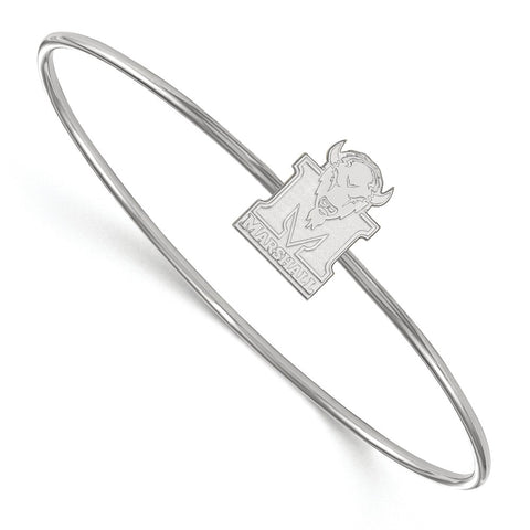 Sterling Silver LogoArt Marshall University Bangle Slip on
