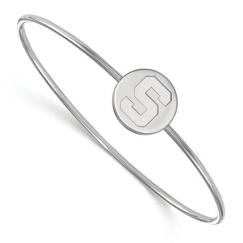 Sterling Silver LogoArt Michigan State University Bangle Slip on