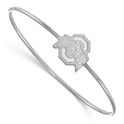 Sterling Silver LogoArt Ohio State University Bangle Slip on
