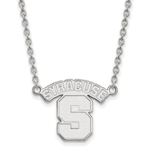 14kw LogoArt Syracuse University Large Pendant w/Necklace