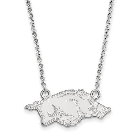 14kw LogoArt University of Arkansas Small Pendant w/Necklace