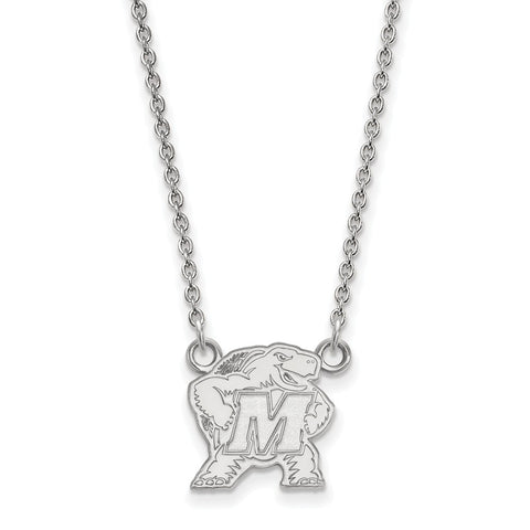 10kw LogoArt University of Maryland Small Pendant w/Necklace