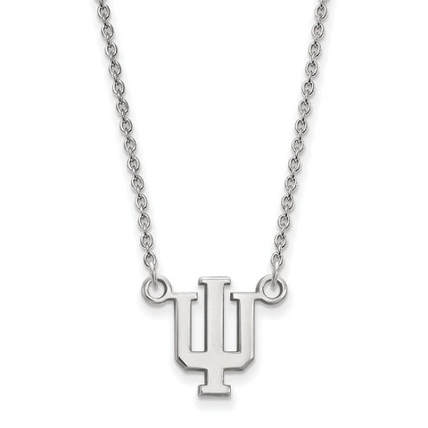 Sterling Silver LogoArt Indiana University Small Pendant w/Necklace