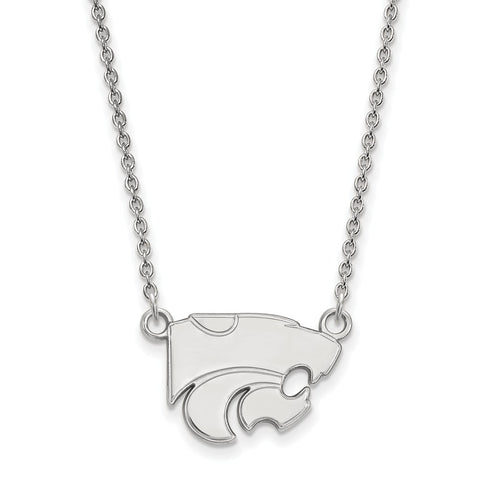Sterling Silver LogoArt Kansas State University Small Pendant w/Necklace