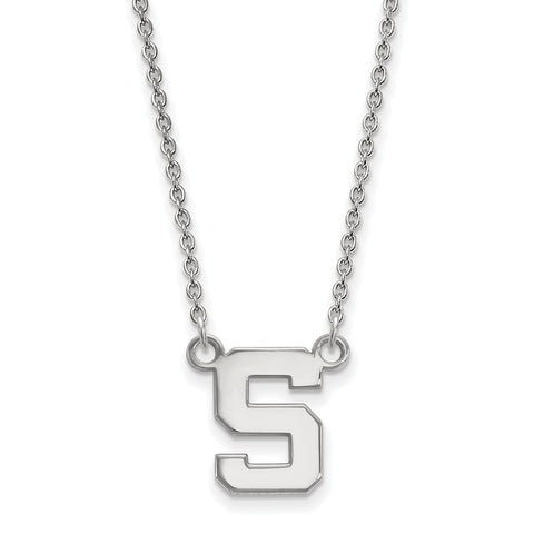 14kw LogoArt Michigan State University Small Pendant w/Necklace