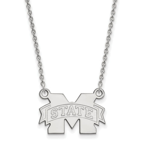 14kw LogoArt Mississippi State University Small Pendant w/Necklace