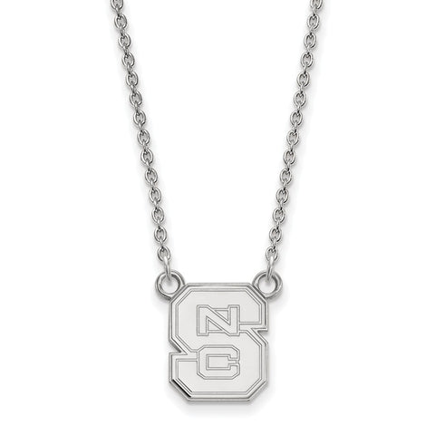 10kw LogoArt North Carolina State University Small Pendant w/Necklace