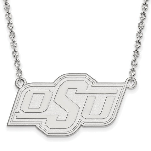 14kw LogoArt Oklahoma State University Large Pendant w/Necklace
