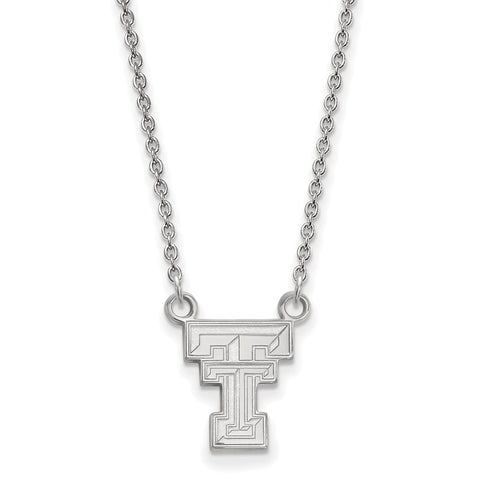 Sterling Silver LogoArt Texas Tech University Small Pendant w/Necklace