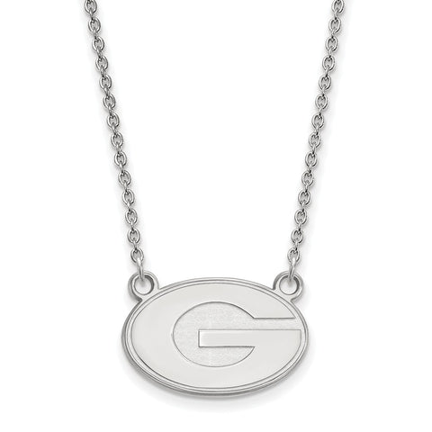 14kw LogoArt University of Georgia Small Pendant w/Necklace