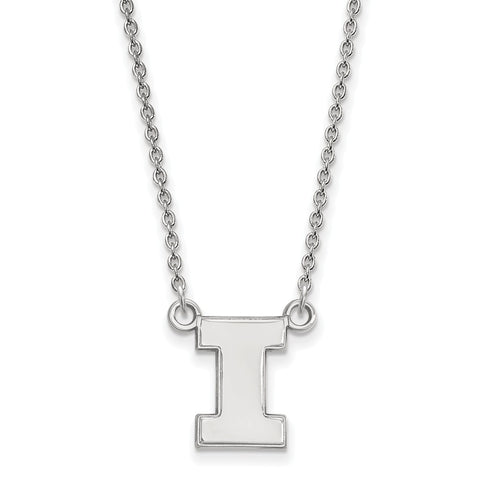 10kw LogoArt University of Illinois Small Pendant w/Necklace