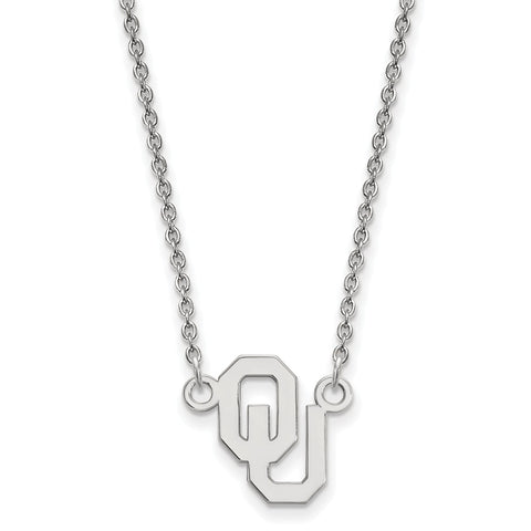 14kw LogoArt Oklahoma Small Pendant w/Necklace
