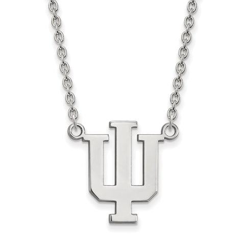 14kw LogoArt Indiana University Large Pendant w/Necklace