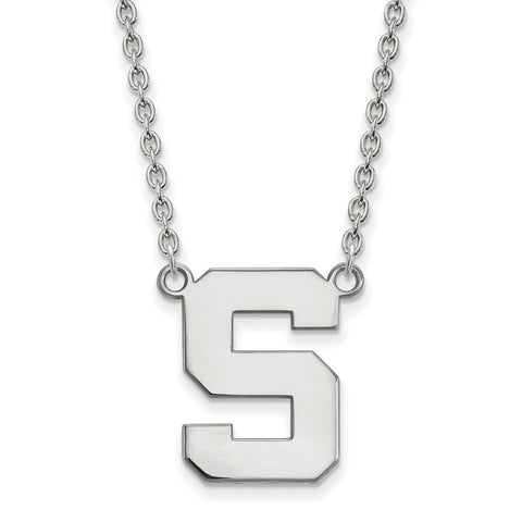 14kw LogoArt Michigan State University Large Pendant w/Necklace