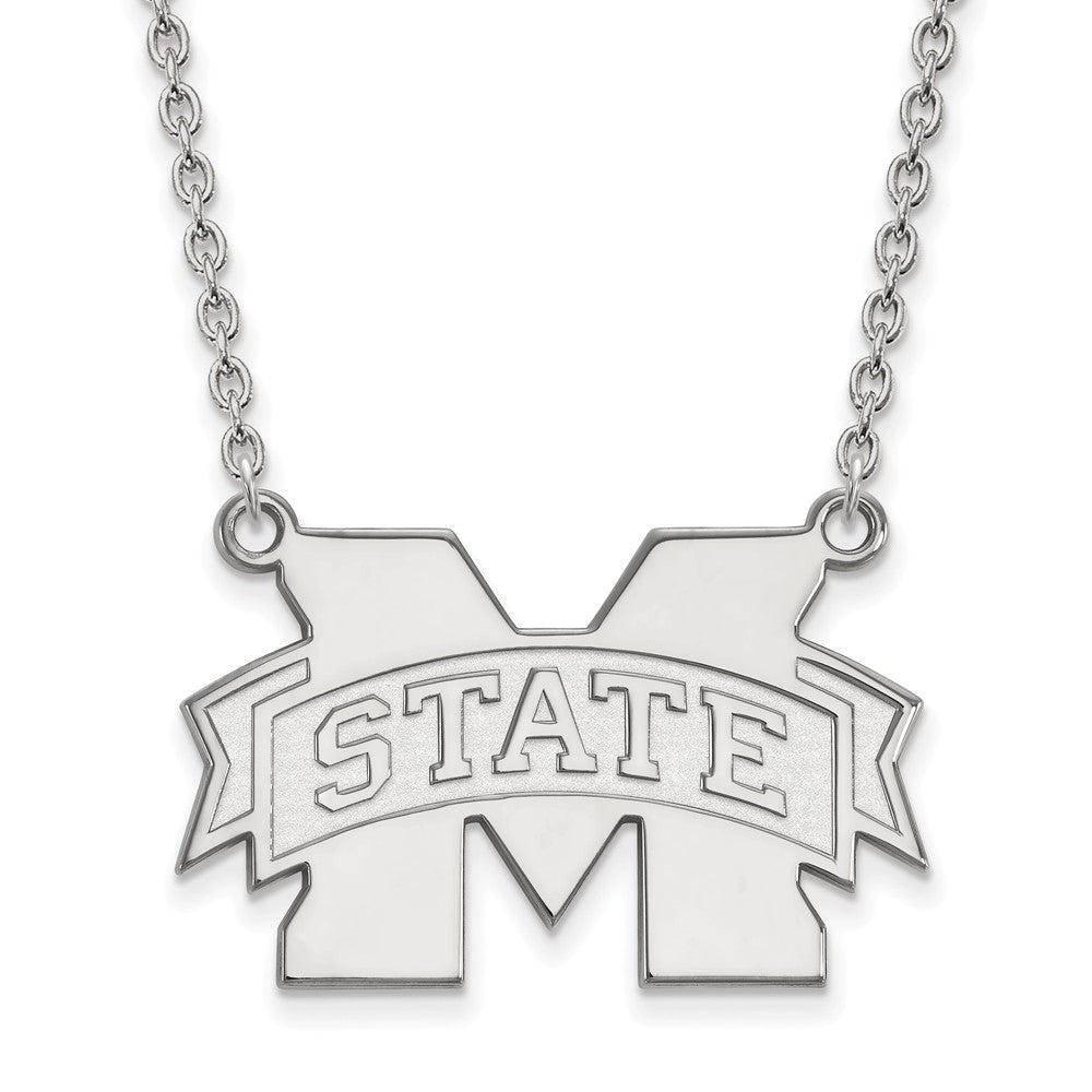 Sterling Silver University of Mississippi Large Dog Tag by LogoArt