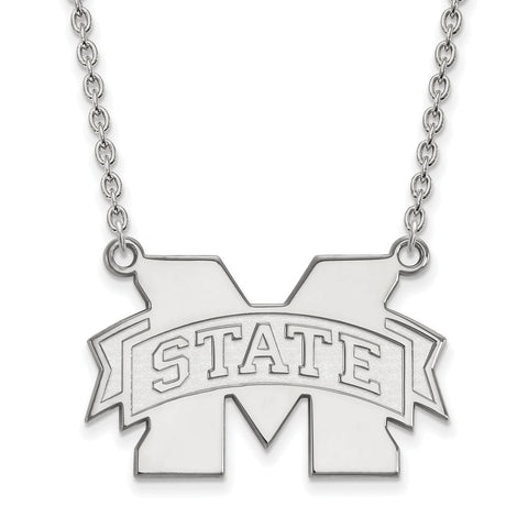 10kw LogoArt Mississippi State University Large Pendant w/Necklace