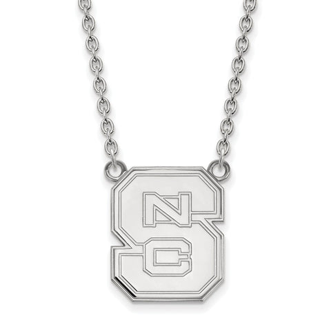 14kw LogoArt North Carolina State University Large Pendant w/Necklace