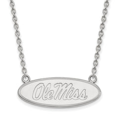 10kw LogoArt University of Mississippi Large Pendant w/Necklace