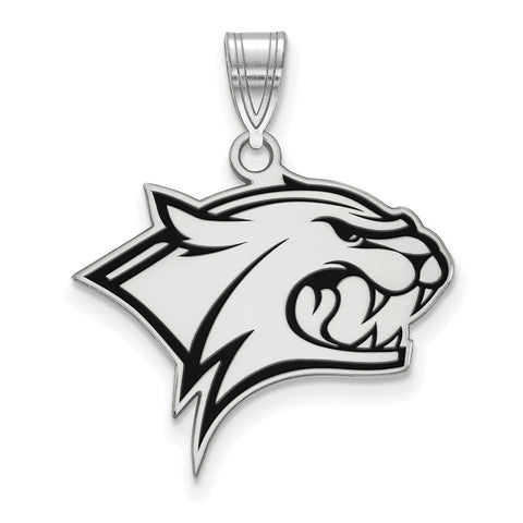 Sterling Silver LogoArt University of New Hampshire Large Enamel Pendant