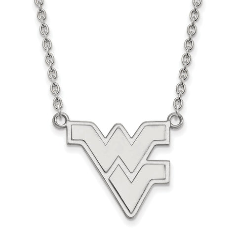 14kw LogoArt West Virginia University Large Pendant w/Necklace