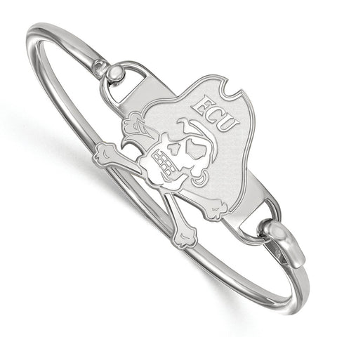 Sterling Silver LogoArt East Carolina University Bangle