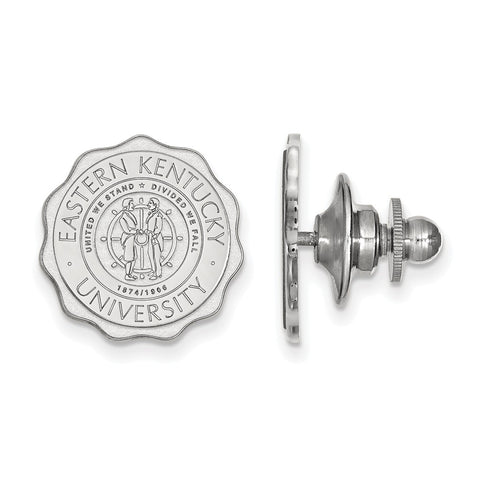 14kw LogoArt Eastern Kentucky University Crest Lapel Pin