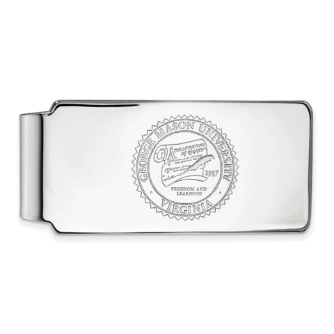 14kw LogoArt George Mason University Money Clip Crest