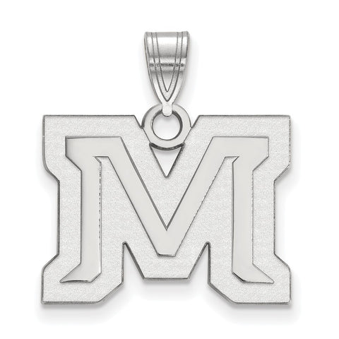 Sterling Silver LogoArt Montana State University Medium Pendant