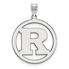 Sterling Silver LogoArt Rutgers XL Pendant in Circle