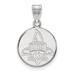 14kw LogoArt University of New Orleans Medium Disc Pendant