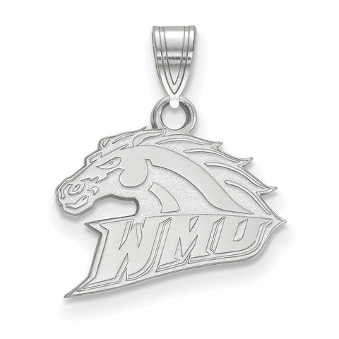 Sterling Silver LogoArt Western Michigan University Small Pendant