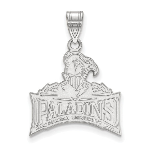 Sterling Silver LogoArt Furman University Large Pendant