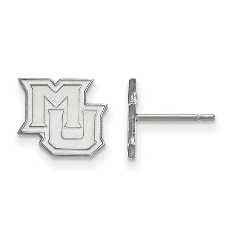 14kw LogoArt Marquette University XS Post Earrings