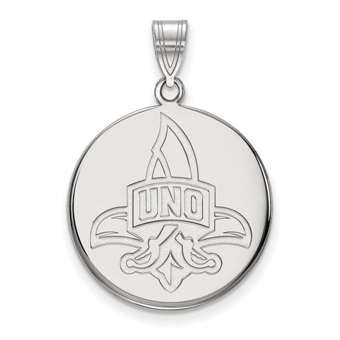 14kw LogoArt University of New Orleans Large Disc Pendant